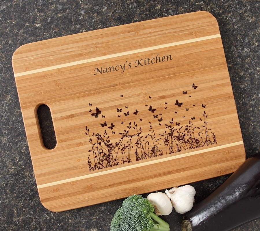 Personalized Cutting Board Engraved 15x12 Handle DESIGN 30