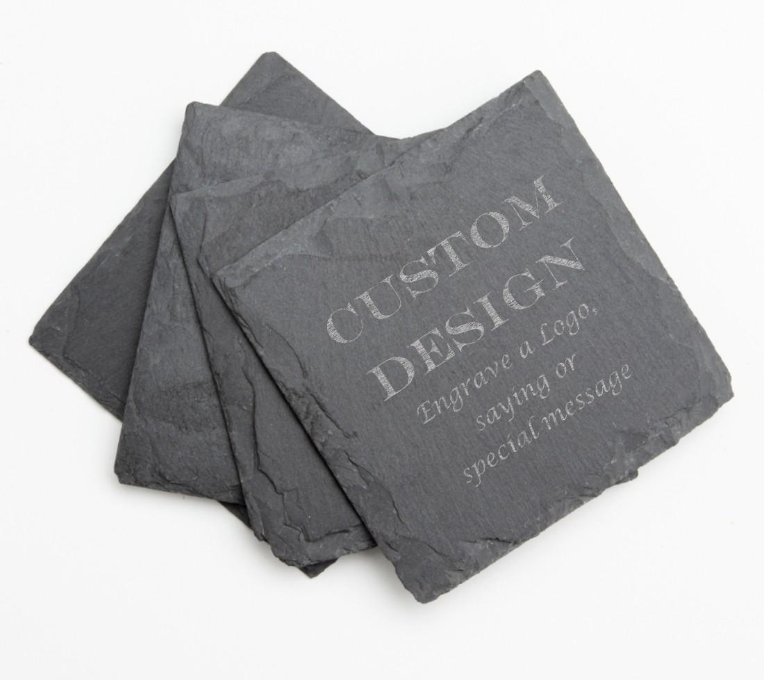 Personalized Slate Coasters Engraved Slate Coaster Set DESIGN 13