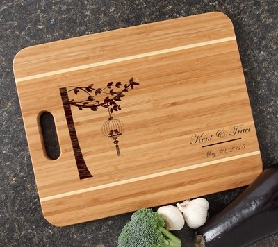 Personalized Cutting Board Engraved 15x12 Handle DESIGN 32