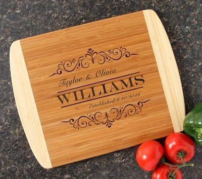 Personalized Cutting Board Custom Engraved 14x11 DESIGN 34