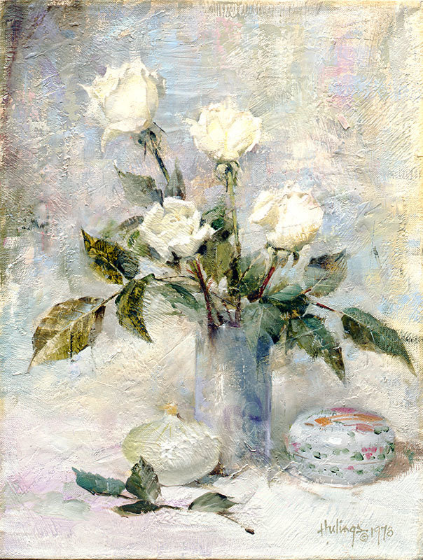 White Roses with Onion 00045