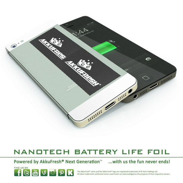 Akkufresh Battery Life Foil - increase battery life!