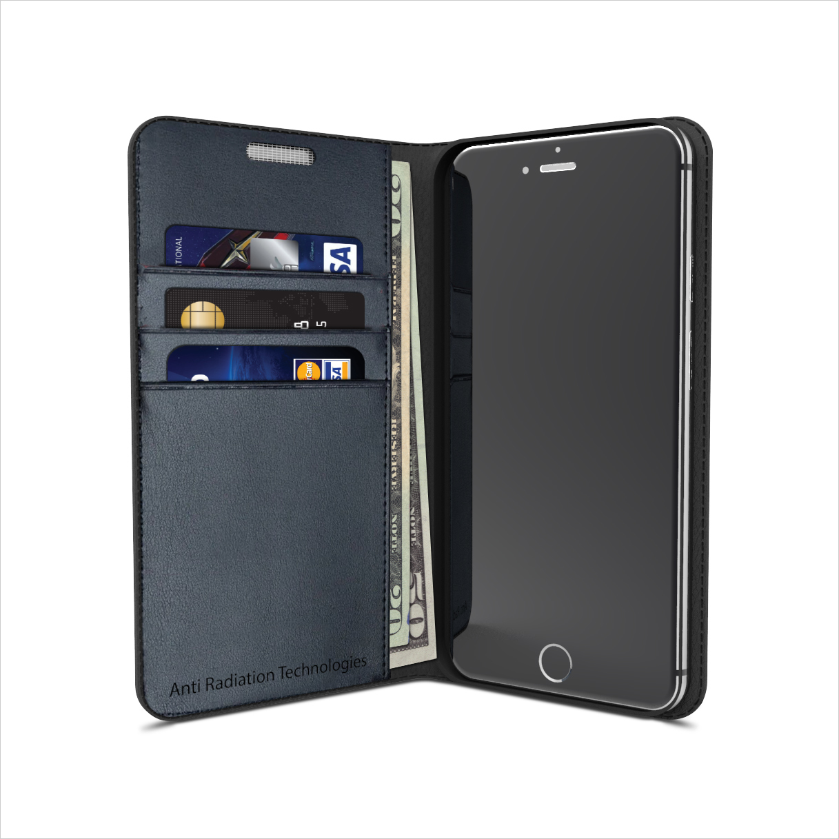 vest Anti-Radiation Wallet Case for iPhone 7 PLUS & iPhone 8 PLUS 00293