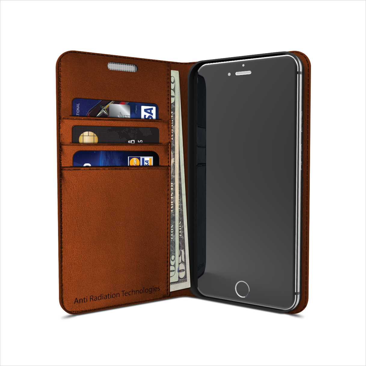 vest Anti-Radiation Wallet Case for iPhone 6 / 6s 00095
