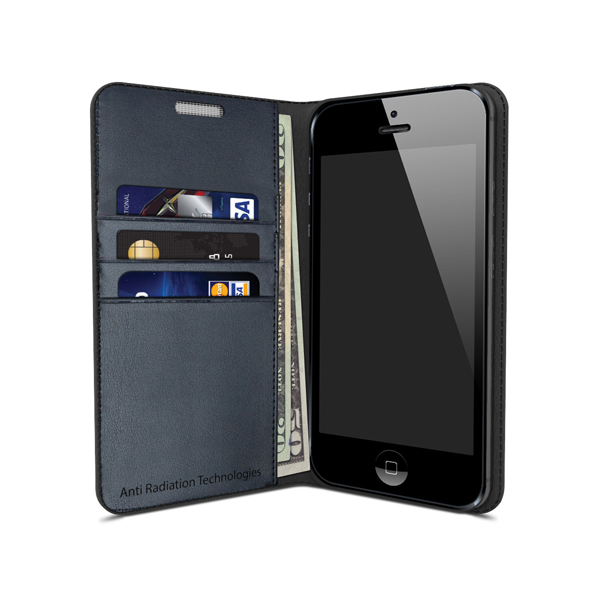 vest Anti-Radiation Wallet Case for iPhone 5 / 5S / SE 00105