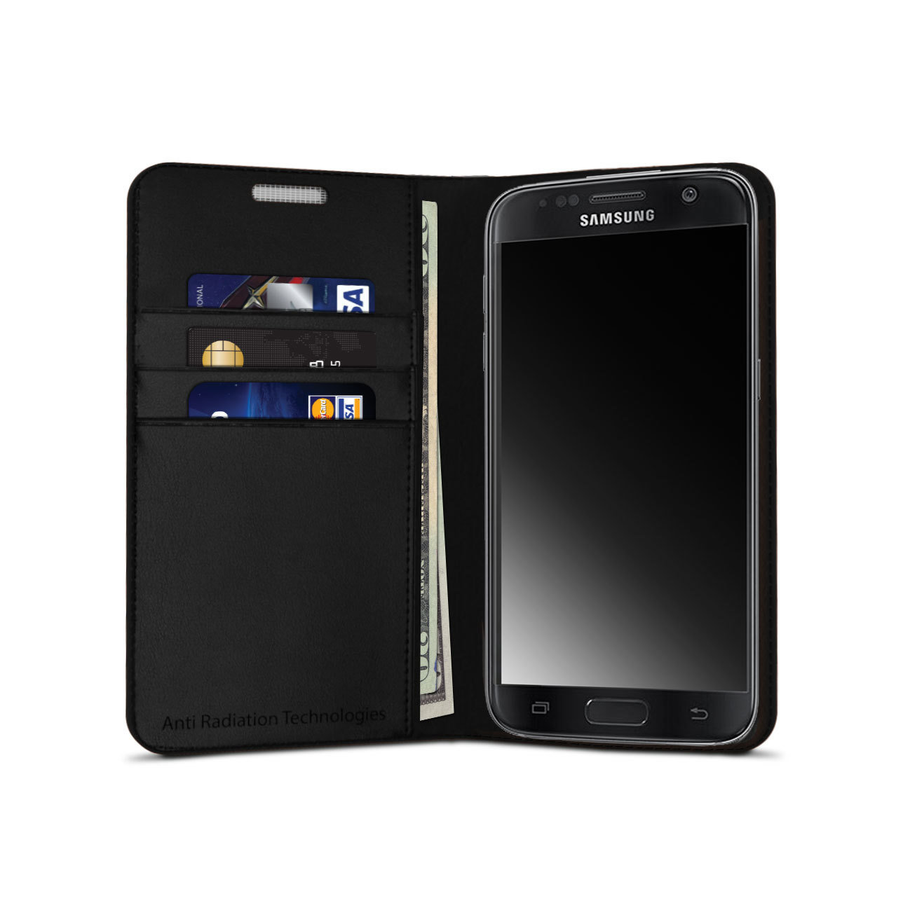 vest Anti-Radiation Wallet Case for Galaxy S7