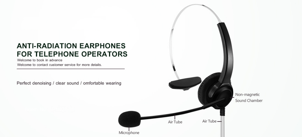 Anti-Radiation Call Centre Headset