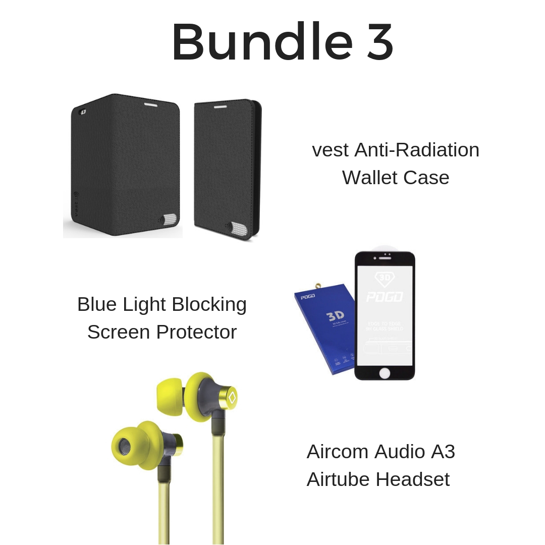 Wallet Case, Headset & Blue Light Screen Protector 00347