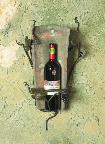 Vineyard 1 Bottle Tile Wine Sconce