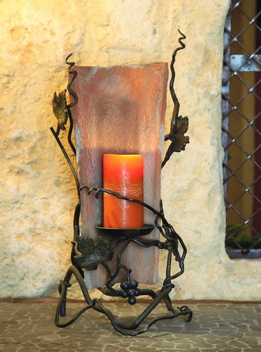 Vineyard Tile Candle Holder