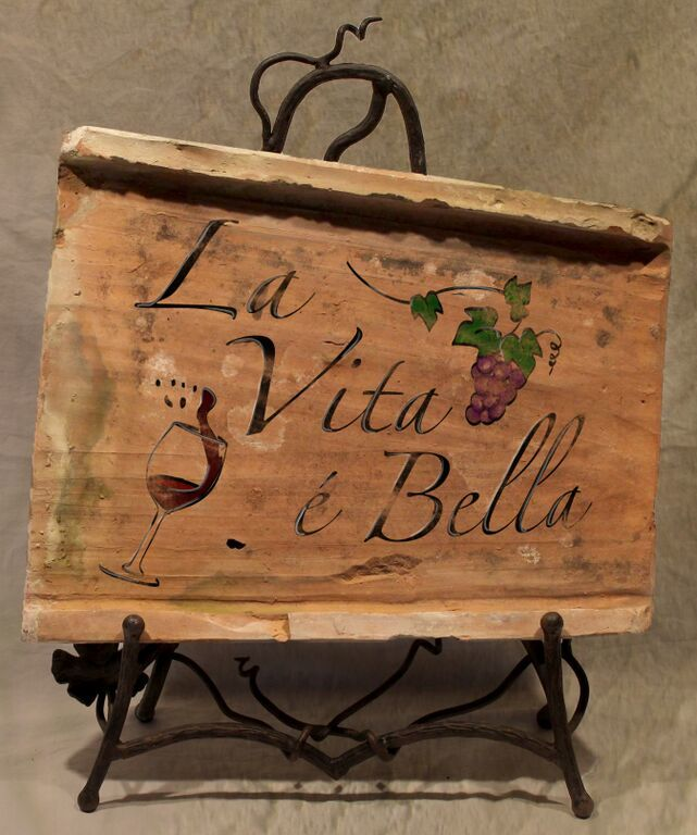Painted Antique Tile - La Vita Bella