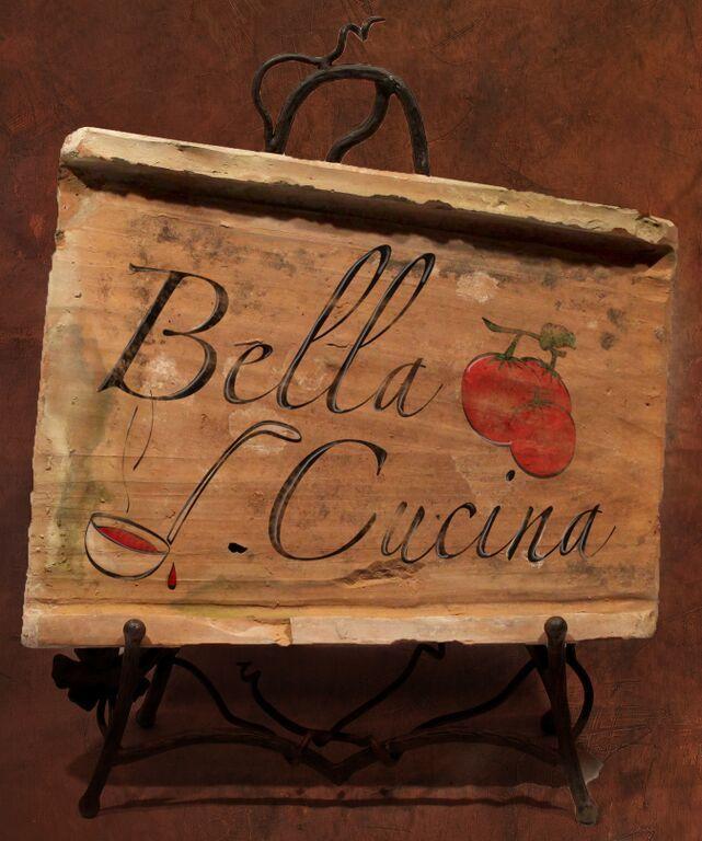 Painted Antique Tile - Bella Cucina