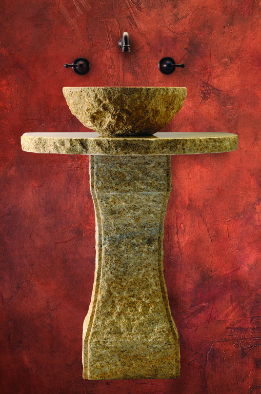 Tuscan Pedestal - Golden