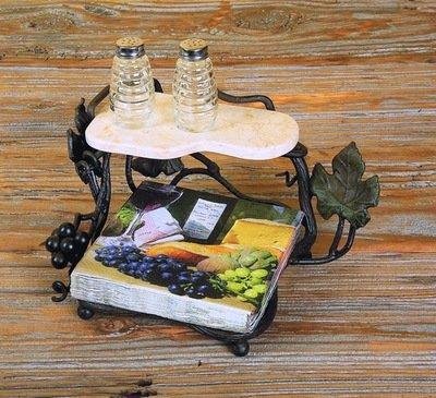 Vineyard Luncheon Napkin Holder w/ Shelf