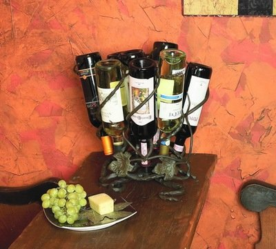 Vineyard 9 Bottle Wine Lazy Susan