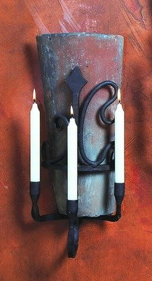 Siena Tile 3 Candle Sconce