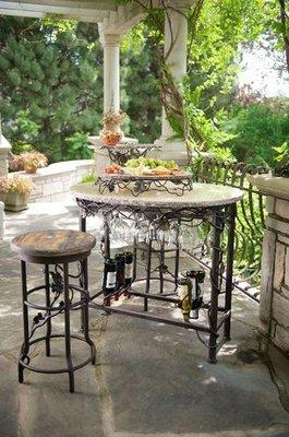 Vineyard Oval Wine Tasting Table