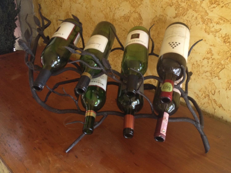 Fruitwood 7 Bottle Wine Rack