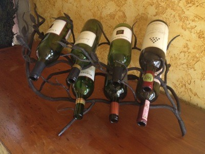 Fruitwood 7 Bottle Wine Rack