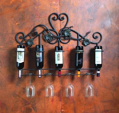 Vineyard 5 Bottle Wall Wine Holder
