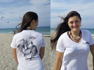 Triple Dolphin Tee - V-neck