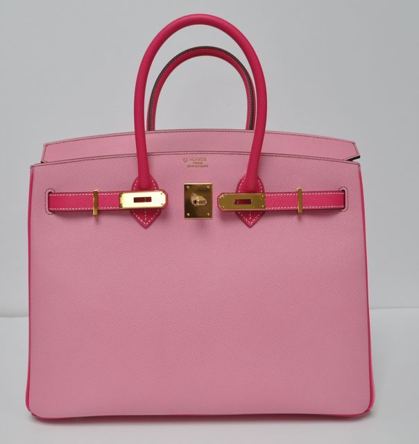36fb4d089d5 35 cm Bubblegum Pink   Rose Tyrien (Two Tone) Epsom Leather Hermès Birkin  Handbag (2018)