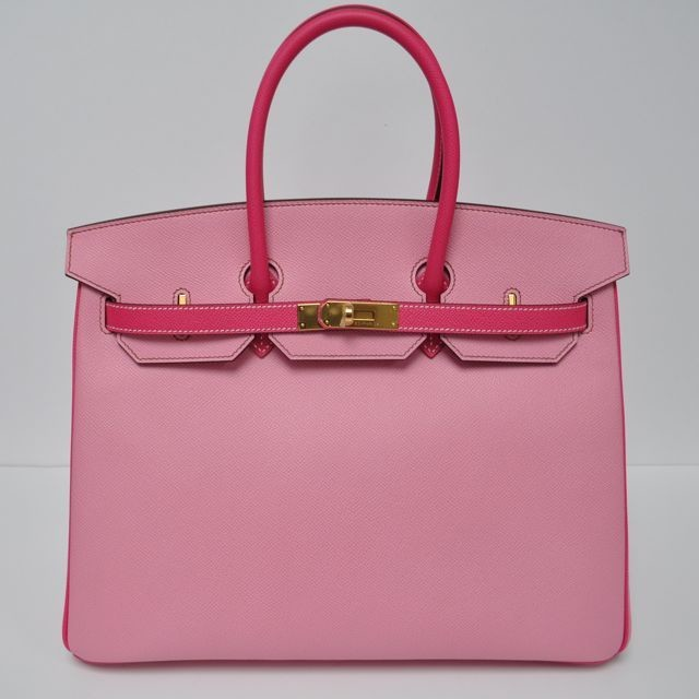 0573aa60a09 35 cm Bubblegum Pink   Rose Tyrien (Two Tone) Epsom Leather Hermès Birkin  Handbag (2018)
