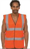Adult Printed Sleeveless Hi-Vis Safety Waistcoat ACHVSWP1