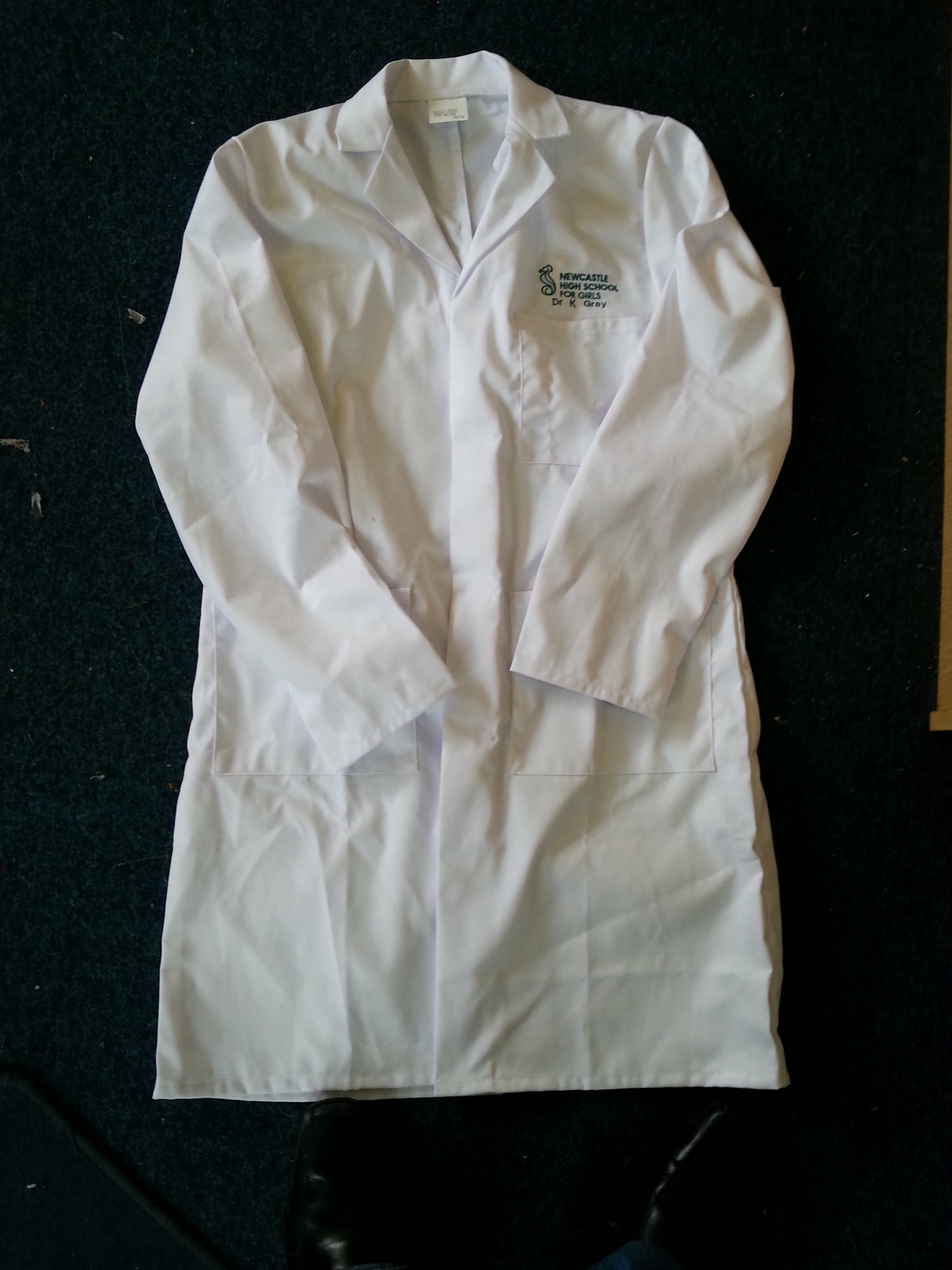 Embroidered Unisex Lab Coat ACWC1E