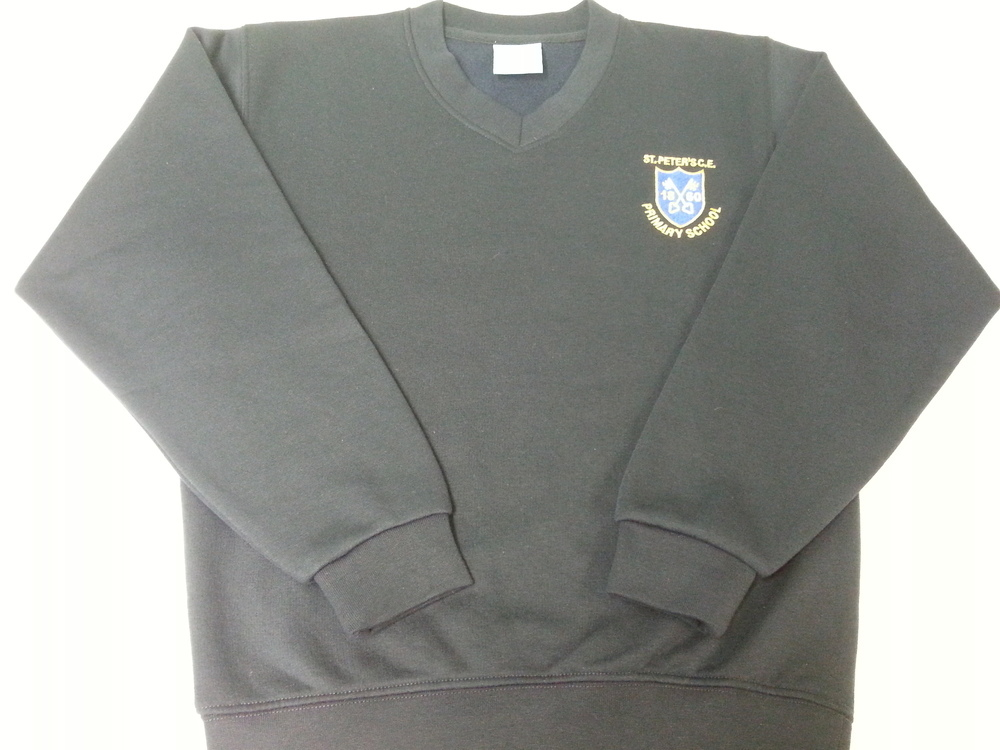St Peters CE Primary V-Neck Sweatshirt