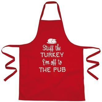 "Christmas apron - ""Stuff the turkey"" BCKSA1"