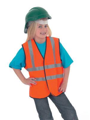 Childrens Hi-Vis Sleeveless Safety Waistcoat