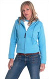 Ladies Fitted Zipped Front Hooded SweatShirt