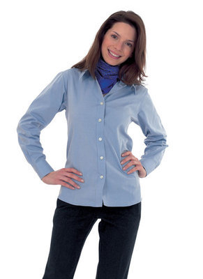 Ladies Pinpoint Oxford Shirt