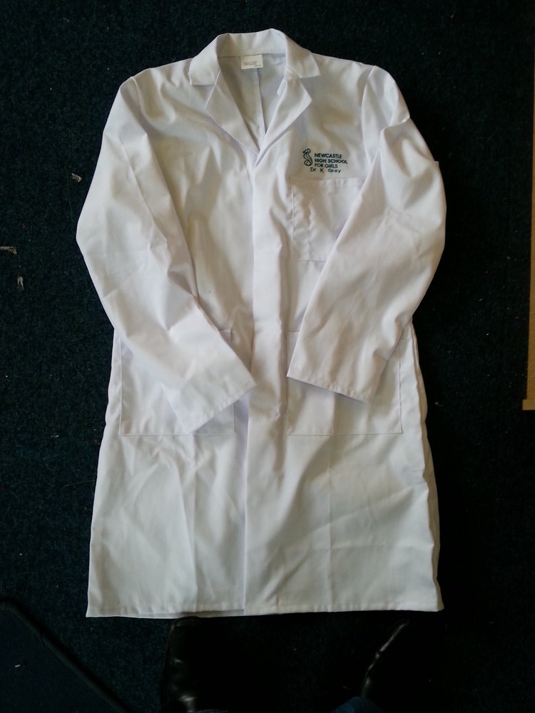 Embroidered Kids Lab Coat ACWCK1E