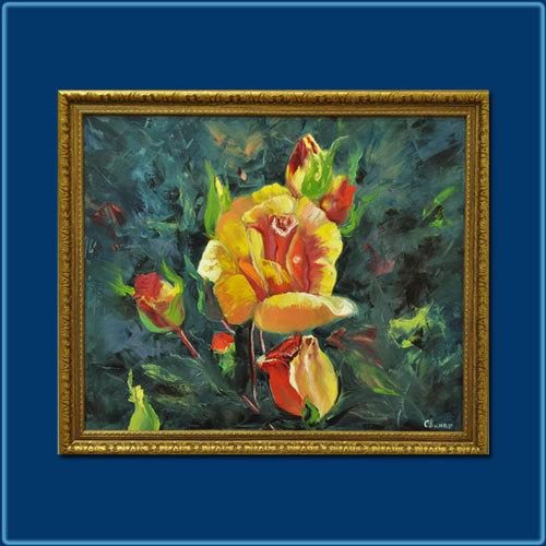 "Картина ""Розы зацвели"""