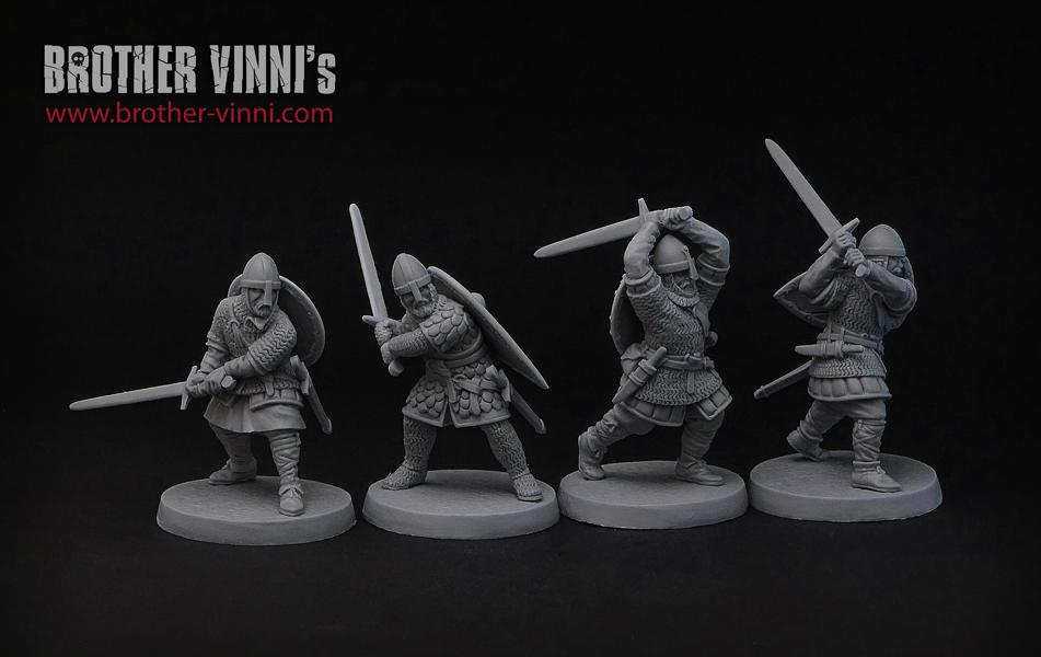 saga 28mm knights miniatues by brother vinni