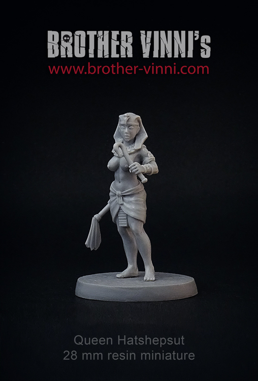 queen hatshepsut pharaoh 28mm  miniatue by brother vinni
