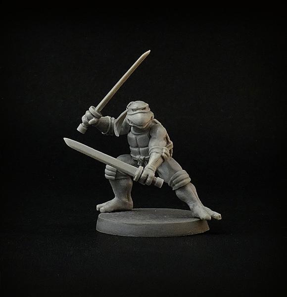 ninja turtles figures miniatures by brother vinni