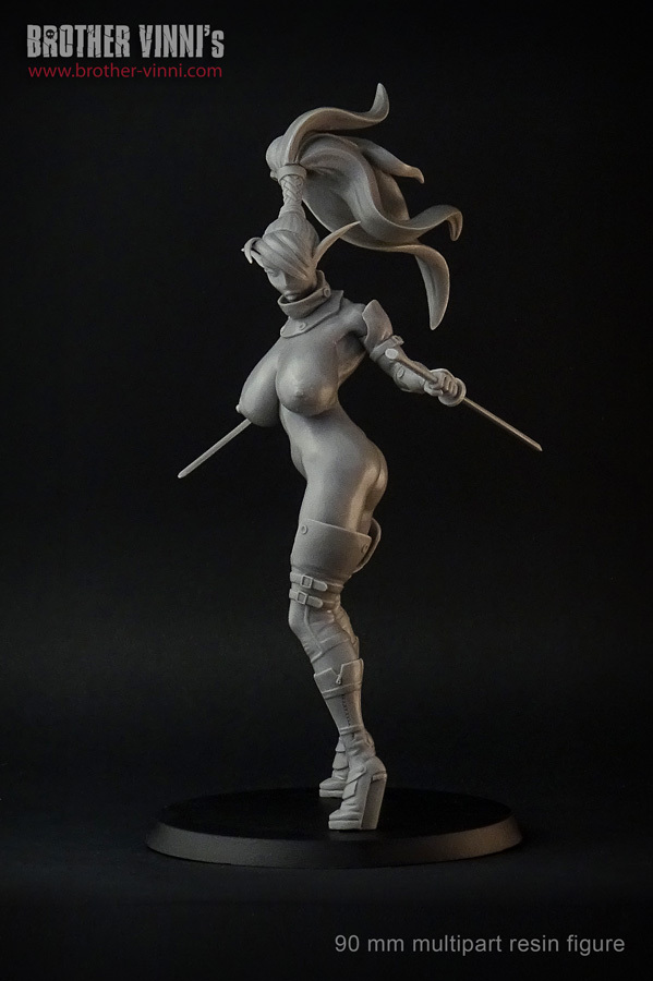 female elf 90mm figure by brother vinni