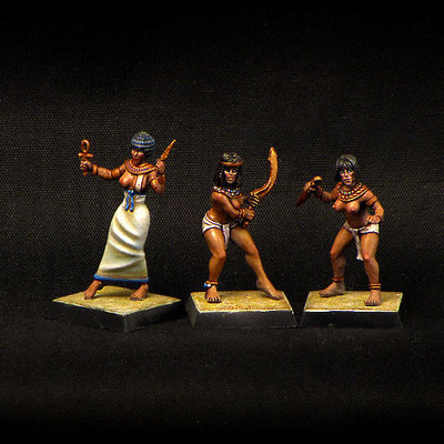 Armed Egyptian Girls (3 pcs)
