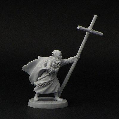 St. Brendan of Clonfert (with cross)