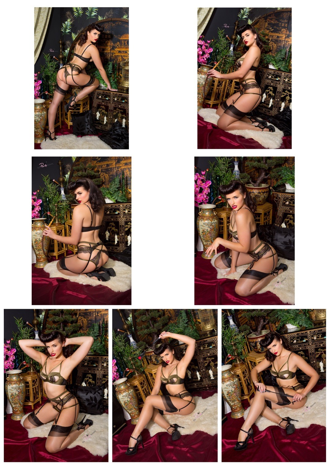 (7 Prints) Frenchie L'Amour Oriental set