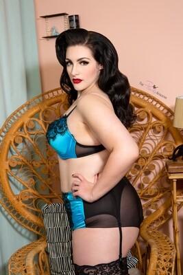 Sophia Black Blue set