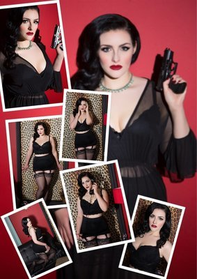 (7 Prints) Sophia Black Red bundle