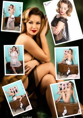 (7 Prints) Bachelor Pad strip tease Photo bundle
