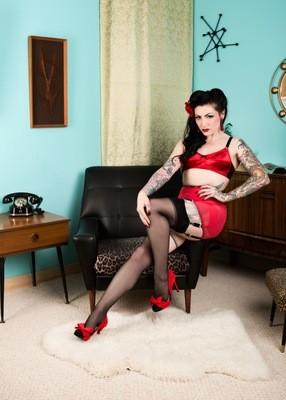 Lola Diamond red lingerie 05
