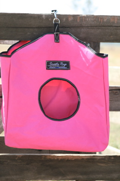 Pink Canvas Hay Bags
