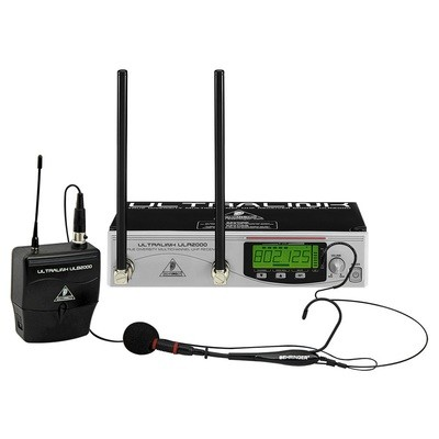 Behringer UL2000B UHF True Diversity Headset Mic UHF Headet Wireless Mic System