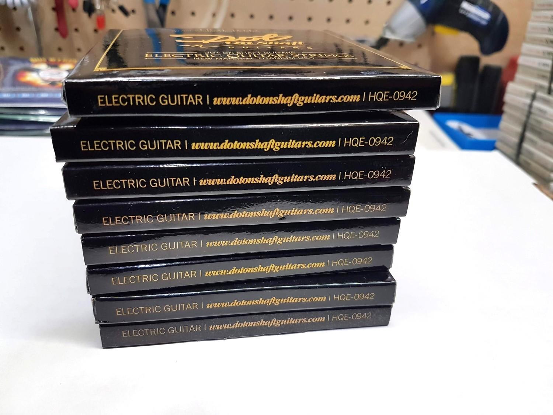 Bulk Pack Sale Pak of 8 Nickel Wound HQE Electric Guitar Strings 9-42